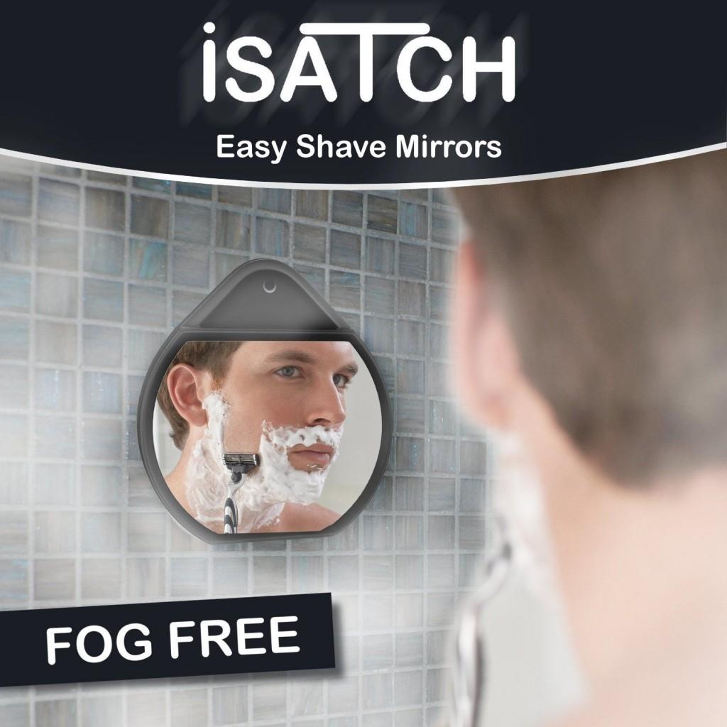 isatch fogless mirror on wall
