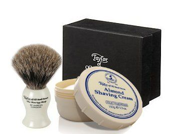 taylor street badger shaving brush set