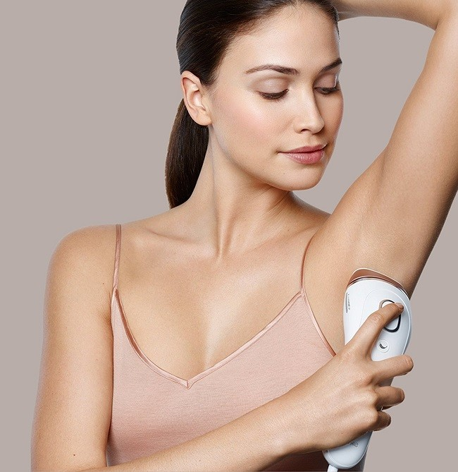Braun 5 IPL on armpit hairs