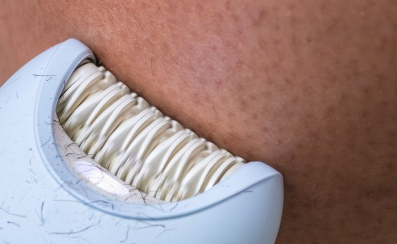 male hair removal with epilator